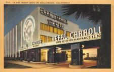 "EARL CARROLL THEATRE ""Gay Night Spot of Hollywood"" c1940s Vintage Linen Postcard"