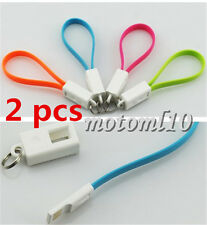 2x Portable Key Chain Key Ring +  USB Charger Cable Cord for Iphone5/6 Mo
