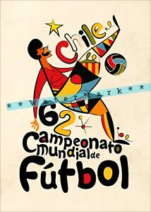 Soccer Chile 1962 South America Sports Football Vintage Poster Retro StylePrint
