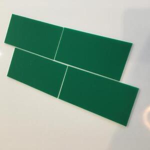 "Green Gloss Acrylic Rectangle Crafting Mosaic/Wall Tiles, 1cm-25cm, 1""-10"""