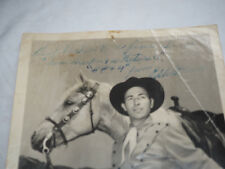 "Eddie Dean Autographed 8 x 10"" photograph  the best cowboy singer of all time"