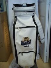 W@W 1996 PGA SENIORS CHAMPIONSHIP STAFF CART BAG w 100+ AUTOS + EMBROIDERED LOGO