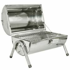 Portable Stainless Steel Barrel BBQ Camping Table Top Charcoal Fire Barbecue Pit