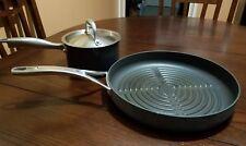 ANOLON Lot Sauce Pan Titanium 2 Qt & Skillet Griddle fry Pan **NOT FROM SAME SET