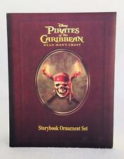 Disney Pirates of the Caribbean Dead Mans Chest Storybook Christmas Ornament Set