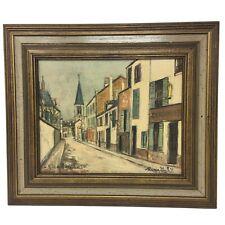 VTG Maurice Utrillo Print CORDONNERIE 'Cobbler' Shoe Shop Wood Framed Art 12 X14