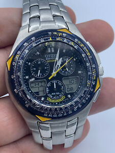 Citizen Eco-Drive Blue Angels Skyhawk C650-T000959 Y Chronograph Pilot Watch