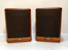 JVC SP-UX7000 Cherry Wood Bookshelf Micro Component Speakers Very Nice!
