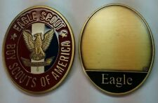 BOY SCOUTS OF AMERICA  EAGLE SCOUT BSA ENGRAVABLE 2' USA MADE CHALLENGE COIN