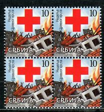 0783 SERBIA 2015 - Red Cross - Block of 4 - MNH Set