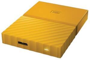 WD Western Digital HDD 2TB My Passport Yellow USB3 Fast External Hard Drive <<**