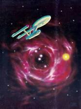"2 3/8"" x 3 1/4"" color transparency of STAR TREK art by MORRIS SCOTT DOLLENS."