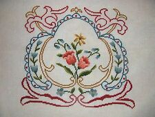 EP 5432 Vintage Floral Preworked Needlepoint Canvas