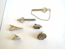 Bar Tie Clip Clasp Tacks Bb Vintage Men's Jewelry Lot: 6 Swank Tie