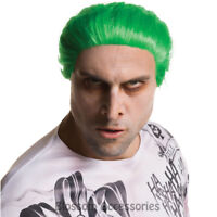 W405 Suicide Squad Jared Leto Joker Green Costume Men Wig Synthetic Hair Cosplay