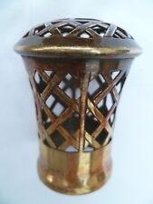 Ancien BOUCHON CAGE de LAMPE BERGER en LAITON Hauteur 6,5 cm