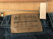 "Columbia men's dark blue jeans size 32 x 31.5"" zip fly mid-rise cotton Relaxed"