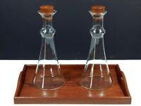Vintage Dansk Wine Carafe Teak And Glass