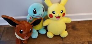 Pokemon build a bear. Squirtle,  Pickachu and Eveee