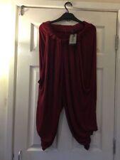 Viscose Regular Size High Harem Trousers for Women