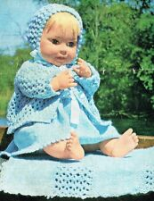 """Dolls clothes knitting pattern. 20""""  and  25"""" doll. Laminated copy. (V Doll 53)"""