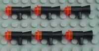 LEGO Star Wars - 6 x Blaster / Waffe schwarz für Figuren / 4349 4073 NEUWARE