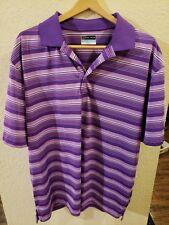 Pga tour shirt airflux Xxl Purple Striped