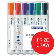 Staedtler 351WP6 Lumocolour Whiteboard Marker with Bullet Tip - Mixed Colour (6 Pack)