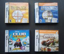 Nintendo DS Lot Brain Age 1 2 Personal Trainer Cooking Club Penguin Complete 3DS