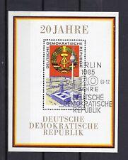 """Briefmarken DDR 1969 """" 20 Jahre DDR """" Block 28 gestempelt"""