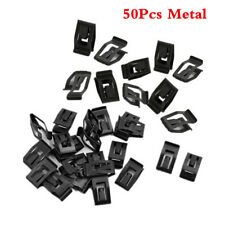 Black 50Pcs Car Console Instrument Panel Trim Clips Interior Assortments Metal