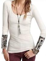 FREE PEOPLE HYPERACTIVE CUFF THERMAL TOP SIZE MEDIUM EUC