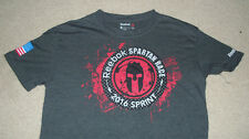 "REEBOK Spartan Race T-Shirt Size SMALL ""Trifecta Sprint Finisher"" Crossfit 2016"