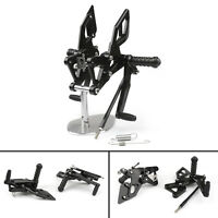 Rearsets Rear Sets Footpegs Footrest Black For Yamaha YZF R25 R3 2014-2020 AUS