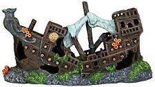 Wooden Galleon Shipwreck Aquarium Ornament Fish Cave Ship Wreckage Decoration