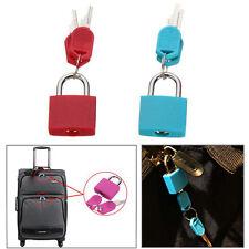 Two 20mm Locks Travel Luggage Bag Padlock Gym Locker Suitcase Lock With Keys