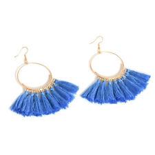 Fashion Women Bohemian Earrings Vintage Long Tassel Fringe Boho Dangle Earrings