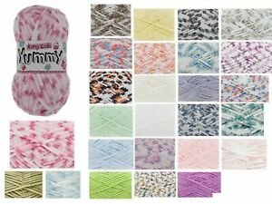 King Cole Yummy 100g Super Soft Knitting Yarn Chunky Baby Wool - 16Colours