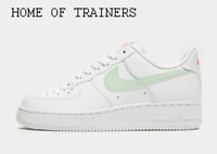 Nike Air Force 1 '07 LV8 White Green Red Girls Women's Trainers All Sizes