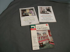 3 Vintage Singer Sewing Machine Books - 1961, 1938 & 1934 - Usa - pp