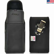 Turtleback HTC One M9 Leather Pouch Holster Metal Belt Clip Fits Lifeproof Case