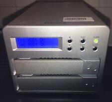 """STARDOM SOHORAID SR2-WBS3 3.5"""" SATA 2-BAY USB3.0 FIREWIRE 800 ESATA HDD 2 x 4TB"""