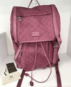 Gucci Guccissima Nylon Purple Backpack