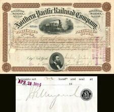 Northern Pacific Railroad Company with attached document signed by J.P. Morgan J