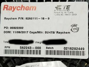 Raychem/TE 82A0111-16-9 #16awg Tinned Copper ETFE Fine Strand Lead Wire Wh/100ft