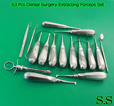 Huge Lot 63 Pc Dental Surgery Extracting Forcep Extraction Elevator Plier Dn 575