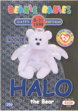 TY Beanie Babies BBOC Card - Series 2 Birthday (BLUE) - HALO the Bear - NM/Mint