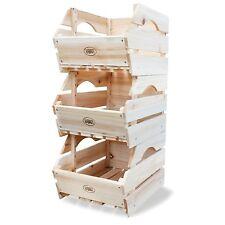 3 Livello scaffale da cucina in legno frutta verdura VINO MULTIUSO STORAGE BOX attra