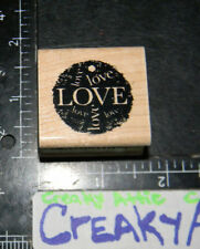 LOVE TAG CIRCLE RUBBER STAMP INKADINKADO 95118K