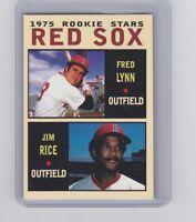 Fred Lynn & Jim Rice '75 Boston Red Sox rookie stars Pastime series #12